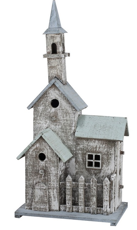 Weathered Church Birdhouse