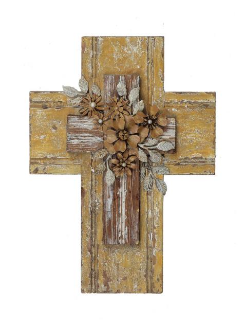 Wood and Tin Wall Cross