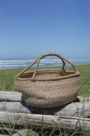 Wonderful Round Seagrass Basket
