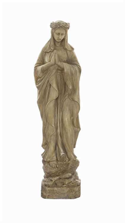 Vintage-style Blessed Mother Statue