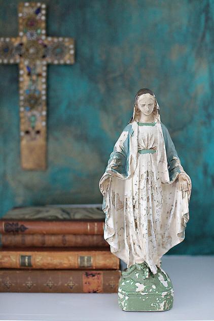 Vintage-style Madonna Statue