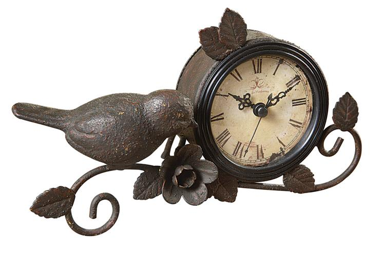 Romantic Bird Mantle Clock