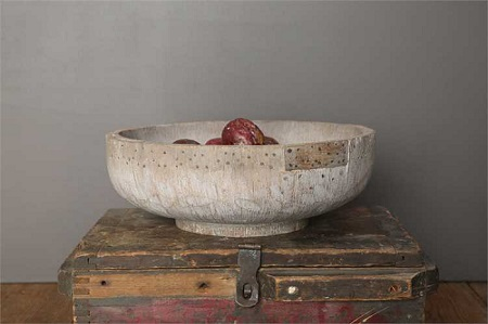 Decorative French-style Wooden Bowl