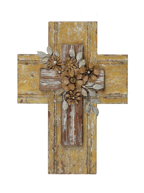 Wood and Tin Wall Cross