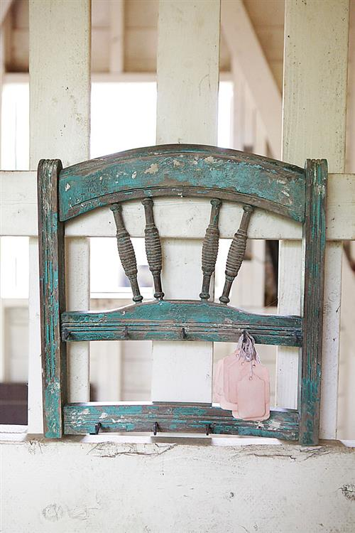 Farm-style Ladder Chair With Hooks