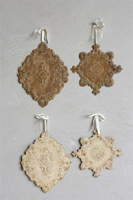 Shabby Chic Embossed Wall Decor