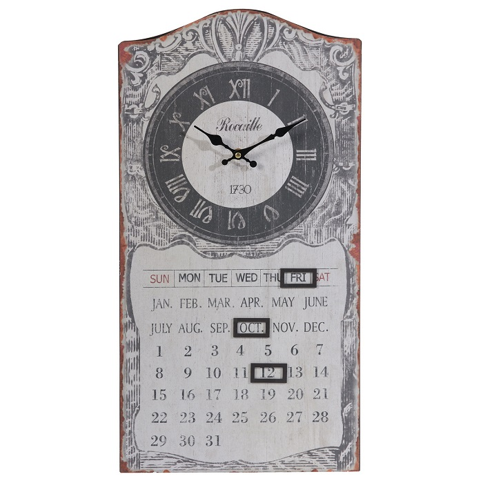 French - Style Clock and Calendar