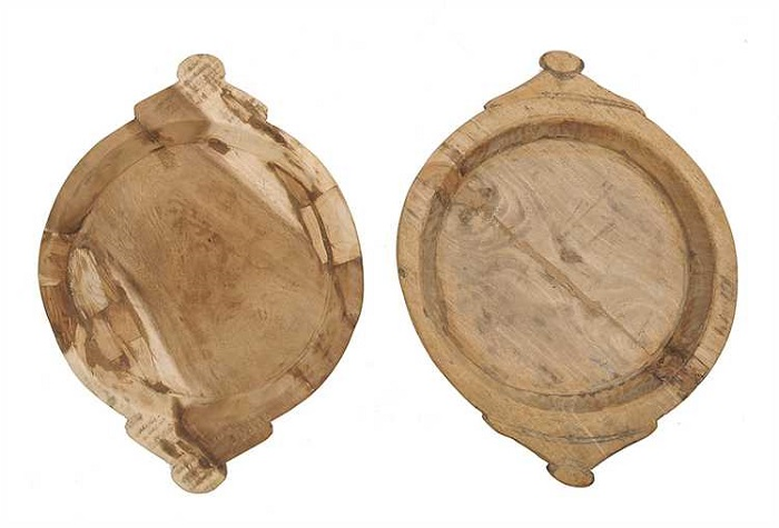 "French Wooden Hand-carved Bowls  -  MEDIUM SIZE, 17"" - 19"""