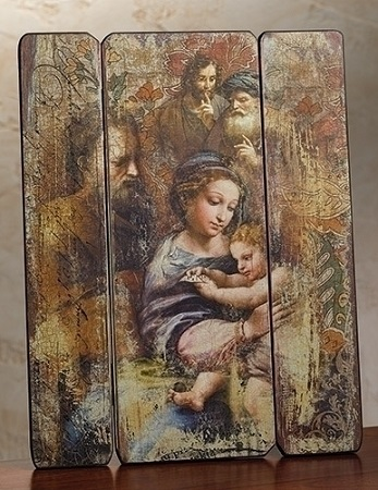 "Holy Family Wall Art - 15"" H"