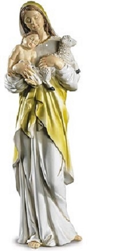 Blessed Mother, Jesus and Lamb Statue