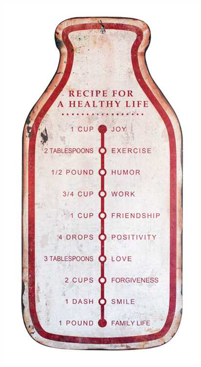 Vintage-style Milk Bottle Sign, Ingredients for Life