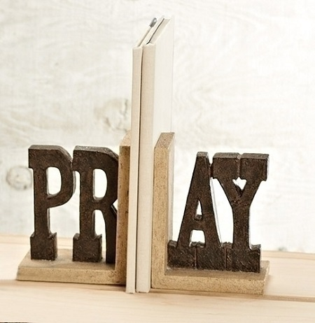 """PRAY"" Bookends"
