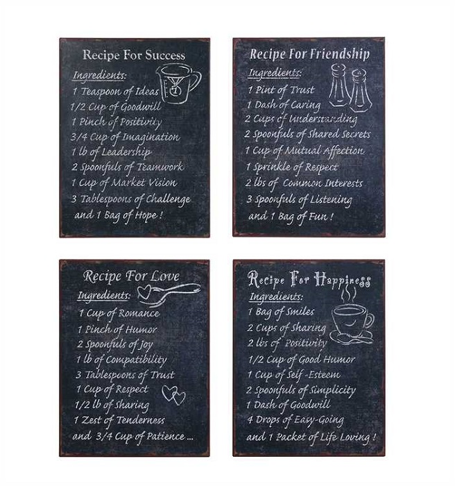 """Recipes for Life"" Signs"