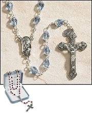 Tears of Mary Rosary - Blue