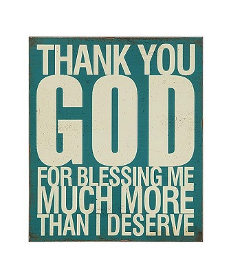 """Thank You God"" wall art"